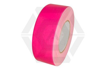 Zero One Fabric Tape Fluorescent 48mm x 22m (Pink)
