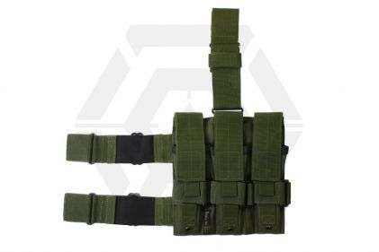 Mil-Force Drop Leg Multi Magazine Pouch for 3x PM5 (Olive) © Copyright Zero One Airsoft