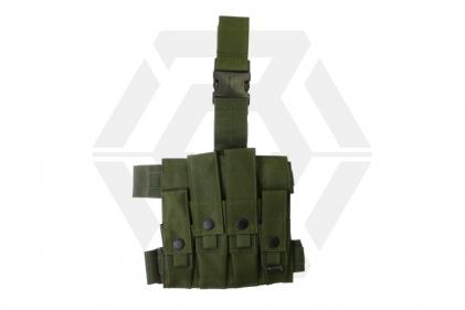 Mil-Force Drop Leg Multi Magazine Pouch for 2x Pistol & 2x PM5 (Olive)