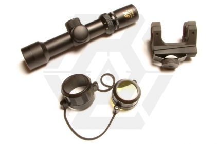 NCS 2-6x28 Compact Scope with Double Ring M4/M16 Mount