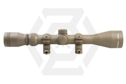 NCS 3-9x40 Scope with P4 Sniper Reticule & 20mm Mount Rings (Tan)
