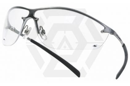Bollé Protection Glasses Silium with Silver Frame and Clear Lens