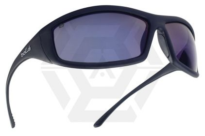 Bollé Protection Glasses Solis with Black Frame and Blue Flash Lens