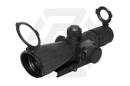 NCS 3-9x42 Rubber Armoured Blue Illuminating Scope with P4 Sniper Reticule & Integrated Laser