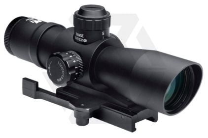 NCS 4x32 Blue/Green Illuminating Scope with Mil-Dot Reticule & QR Mount