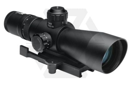 NCS 3-9x42 Blue/Green Illuminating Scope with P4 Sniper Reticule & QR Mount