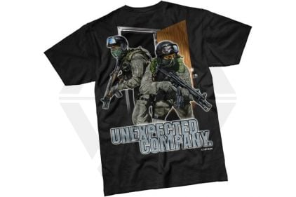 7.62 Design T-Shirt 'Unexpected Company' (Black) - Size Extra Large