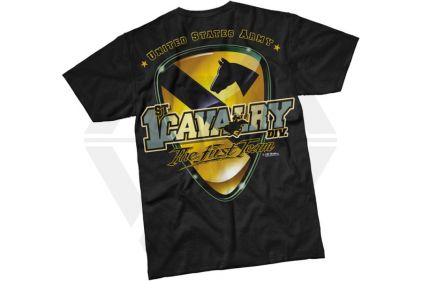 7.62 Design T-Shirt '1st Cavalry' (Black) - Size Medium