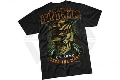 7.62 Design T-Shirt 'Airborne Rangers' (Black) - Size Extra Large