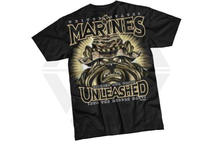 7.62 Design T-Shirt 'Marines Unleashed' (Black) - Size Large
