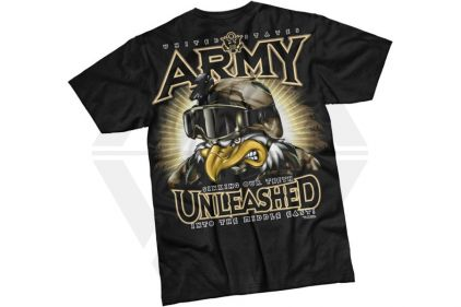 7.62 Design T-Shirt 'Army Unleashed' (Black) - Size Extra Large