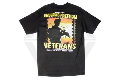 7.62 Design T-Shirt 'Enduring Freedom' (Black) - Size Large