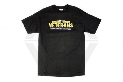 7.62 Design T-Shirt 'Enduring Freedom' (Black) - Size Large