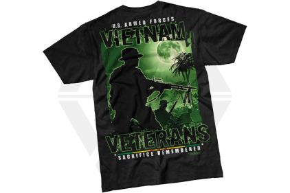 7.62 Design T-Shirt 'Vietnam Veterans' (Black) - Size Extra Large
