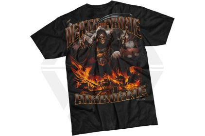 7.62 Design T-Shirt 'Airborne Death From Above' (Black) - Size Medium