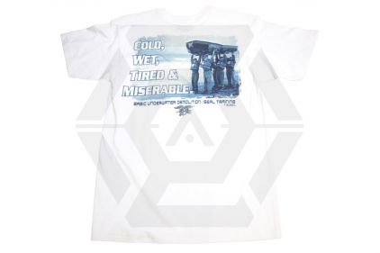 7.62 Design T-Shirt 'Seals Boat Team' (White) - Size Large