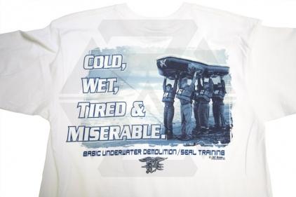 7.62 Design T-Shirt 'Seals Boat Team' (White) - Size Large
