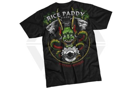 7.62 Design T-Shirt 'Rice Paddy Riders' (Black) - Size Large