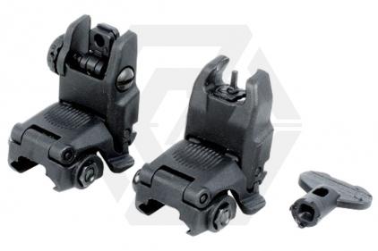 FMA FBUS Flip-Up Sight Set (Black)