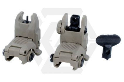 FMA FBUS Flip-Up Sight Set (Dark Earth)