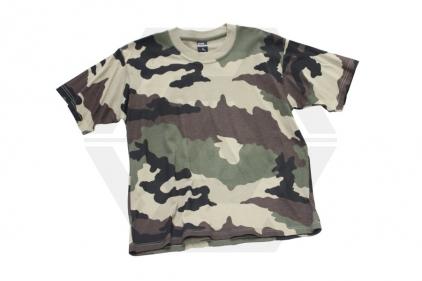 Mil-Com Plain T-Shirt (Euro Camo) - Size Small