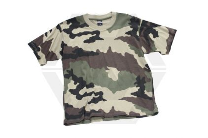 Mil-Com Plain T-Shirt (Euro Camo) - Size Large