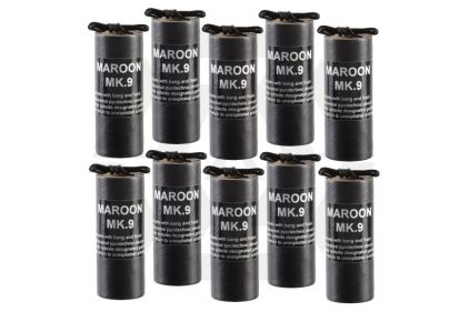 TLSFx Electric Maroon MK9 Box of 10 (Bundle) © Copyright Zero One Airsoft