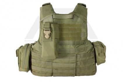 TMC MOLLE CIR Force Recon Vest Complete with Pouches (Khaki)