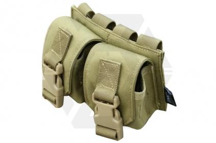 TMC MOLLE Spartan Double Grenade Pouch (Khaki)