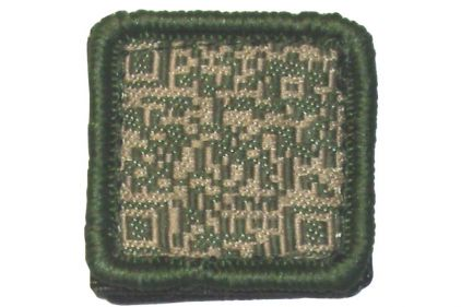"TMC Velcro Patch ""QR Code"" (Olive) © Copyright Zero One Airsoft"