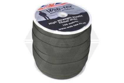 Web-Tex 25mm Flat Elastic (Olive) (Priced Per Meter)
