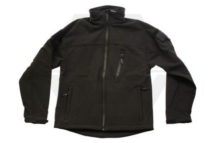 Web-Tex Tactical Soft Shell Jacket (Black) - Size Extra Large