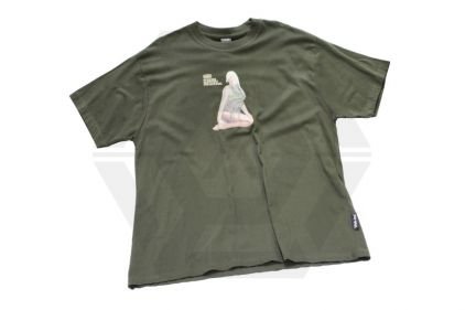 Web-Tex Pin-Up Assault Girl T-Shirt (Olive) - Size Extra Large
