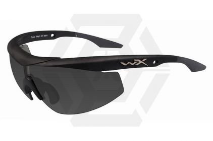 WileyX Talon Glasses with Black Frame and Smoke/Clear/Light Rust Lenses