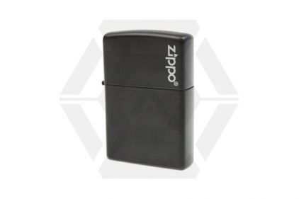 Zippo Lighter (Black with Logo) © Copyright Zero One Airsoft