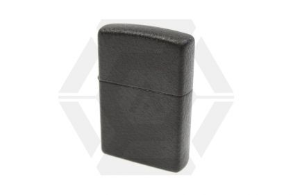 Zippo Lighter (Black Crackle)